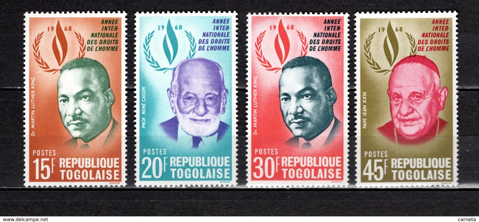 TOGO N° 597 à 600  NEUFS SANS CHARNIERE COTE  4.00€  PRESIDENT  MARTIN LUTHER KING - Togo (1960-...)