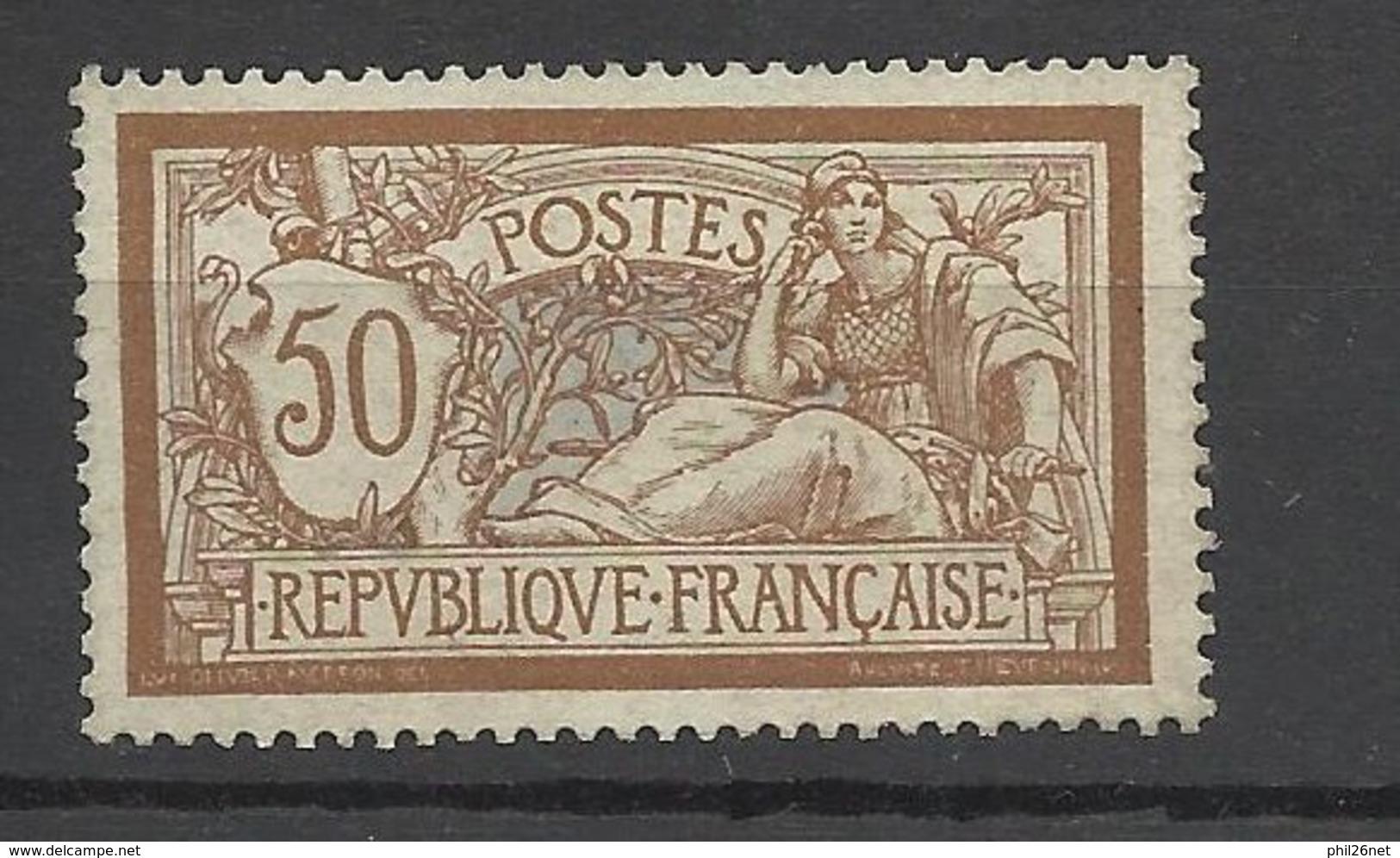 France N°120  Merson 50 Centimes Brun Et Gris Très Bien Centré     Neuf * * B/ TB- MNH  VF   .... à  Moins De 15 % ! ! ! - France