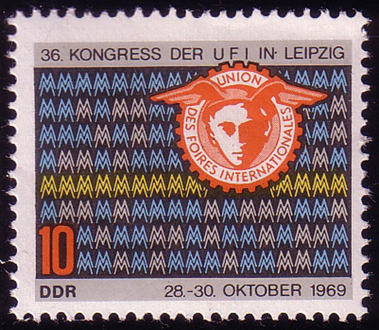 1515 Kongreß UFI 10 Pf ** - [6] Repubblica Democratica