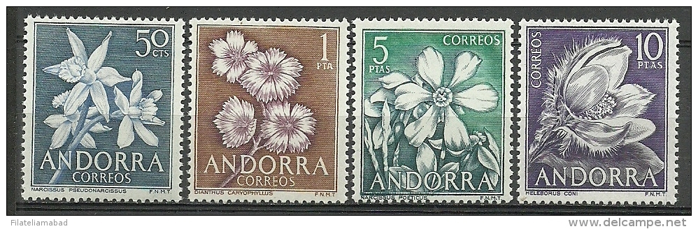 ANDORRA-CORREO ESPAÑOL  ESTOS SELLOS O SIMILARES Nº C. M. ABAD61/64 SIN FIJASELLOS ** - Andorra Española