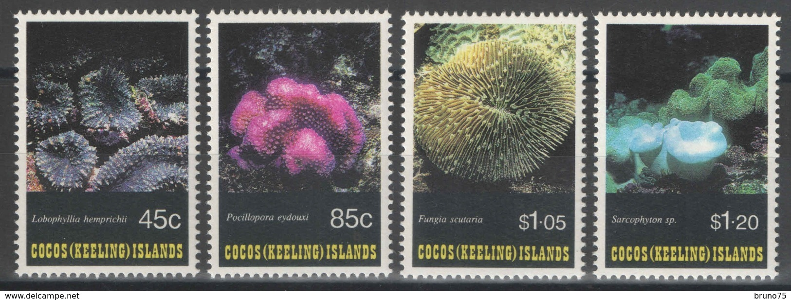 Cocos (Keeling) Islands - YT 267-270 ** MNH - 1993 - Faune Marine - Coraux - Cocos (Keeling) Islands