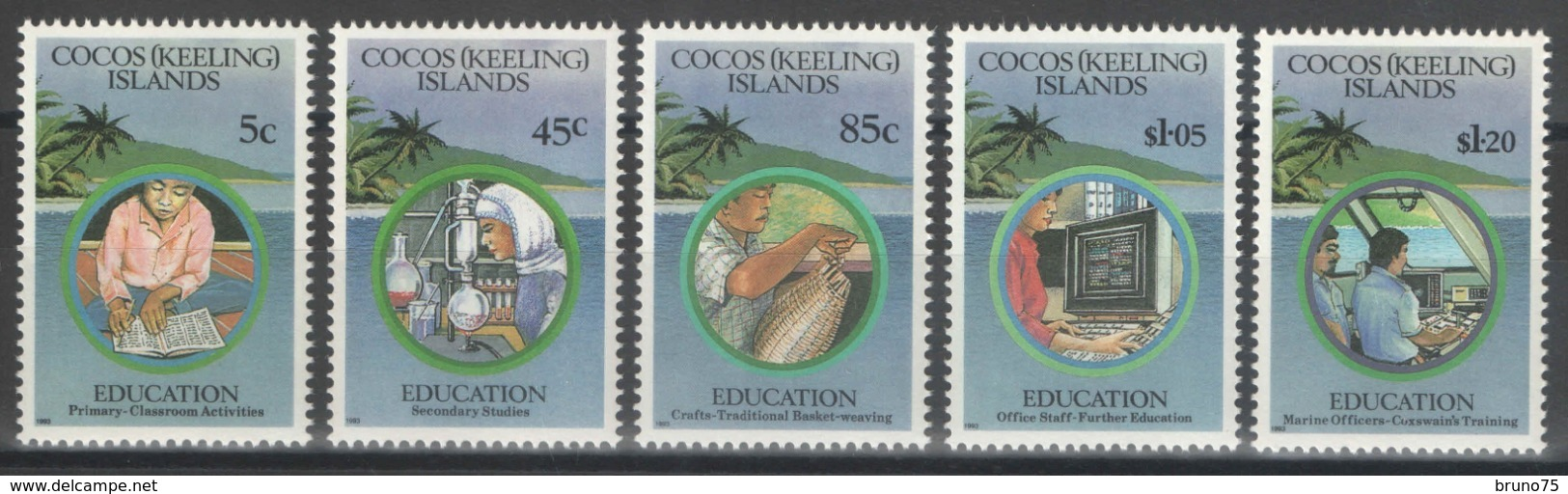 Cocos (Keeling) Islands - YT 275-279 ** MNH - 1993 - Education - Cocos (Keeling) Islands