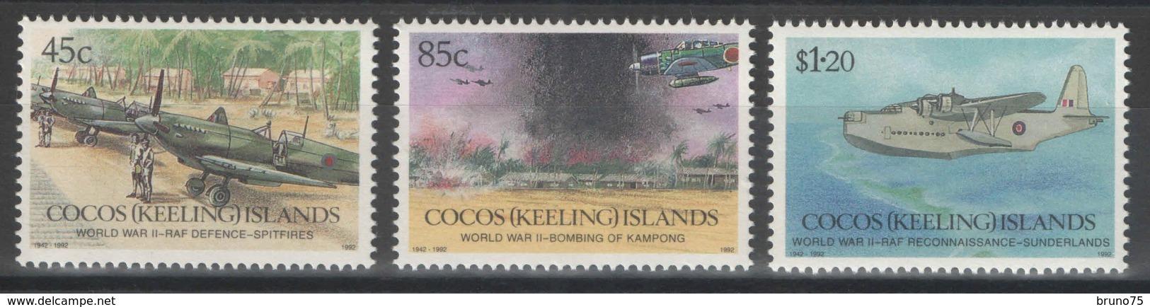 Cocos (Keeling) Islands - YT 261-263 ** MNH - 1992 - WW2 - Cocos (Keeling) Islands