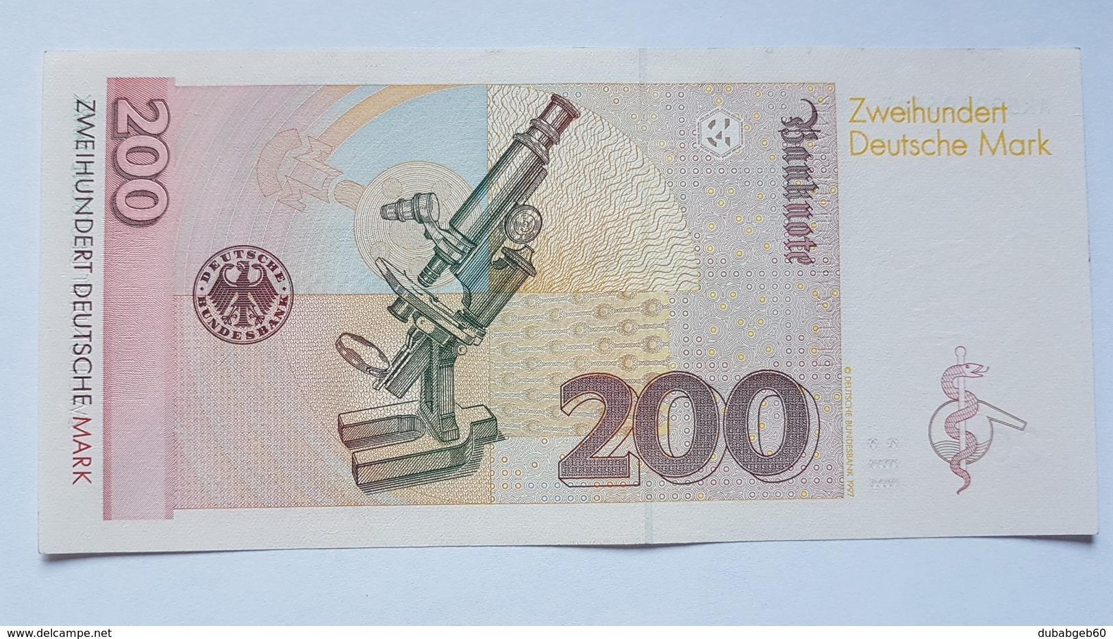 200 DM 1996 Ro 311a, Fast Kassenfrisch, Kein Knick,  About UNC, No Fold!! - [ 7] 1949-… : RFD - Rep. Fed. Duitsland