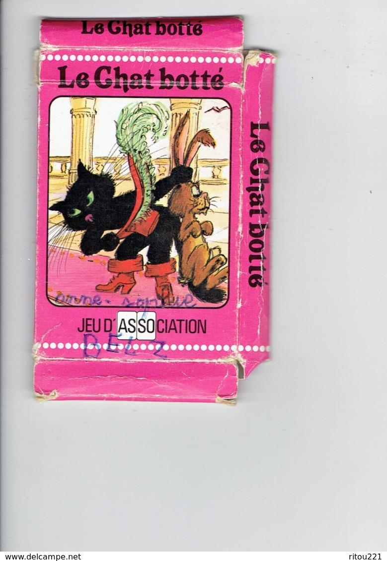 Jeu Cartes à Jouer LE CHAT BOTTE Conte Et Légende Association Cartes Brepols Souris Rat Faux Lapin Magicien Lion Carotte - Cartes à Jouer