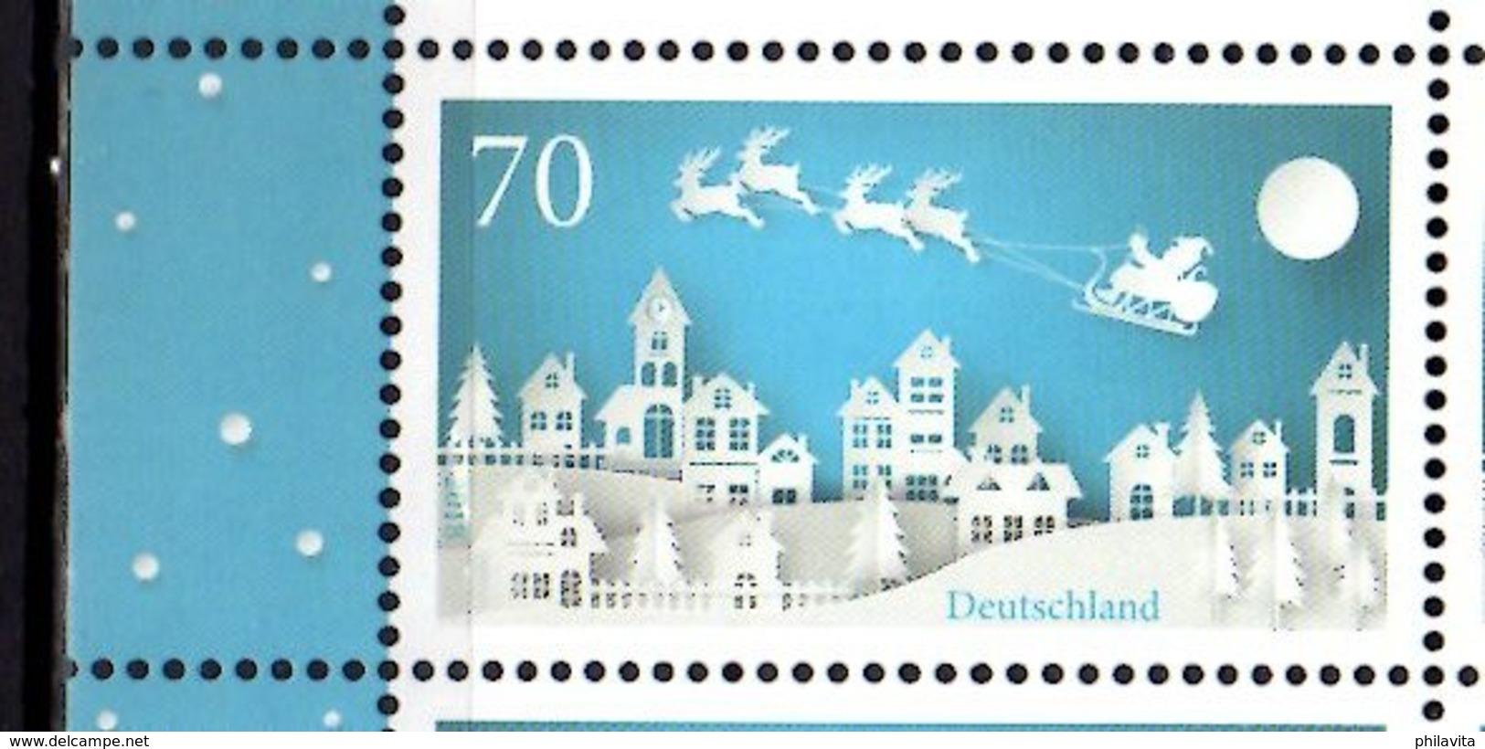 2018 Germany - Christmas Winter Santa At Sledges- 1v Paper  -MNH** 3421 - BRD