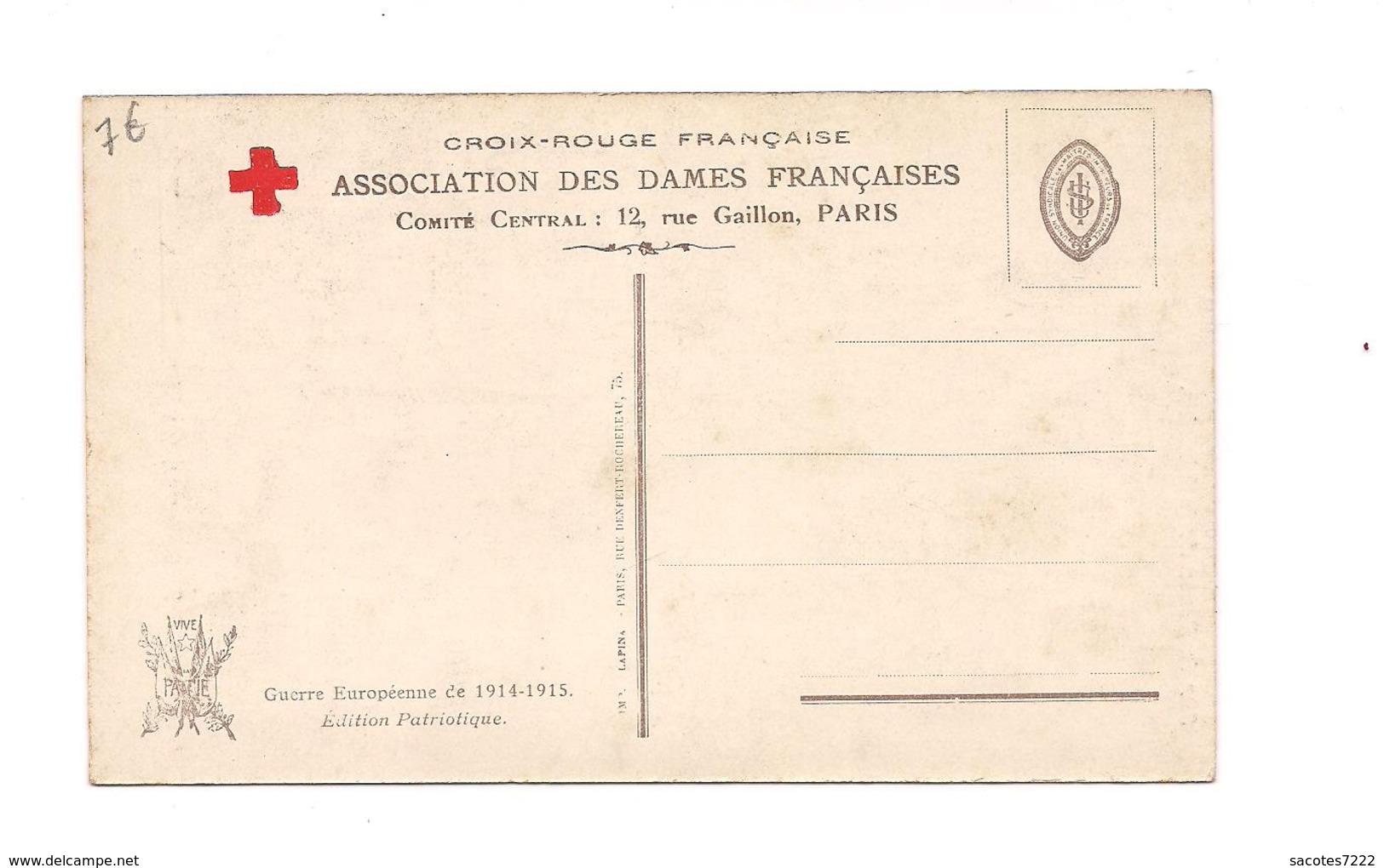 GUERRE EUROPEENNE 1914 - CROIX ROUGE FRANCAISE - Sur La Route De La Victoire -  (Pinx.S.Solomko ) - Croix-Rouge