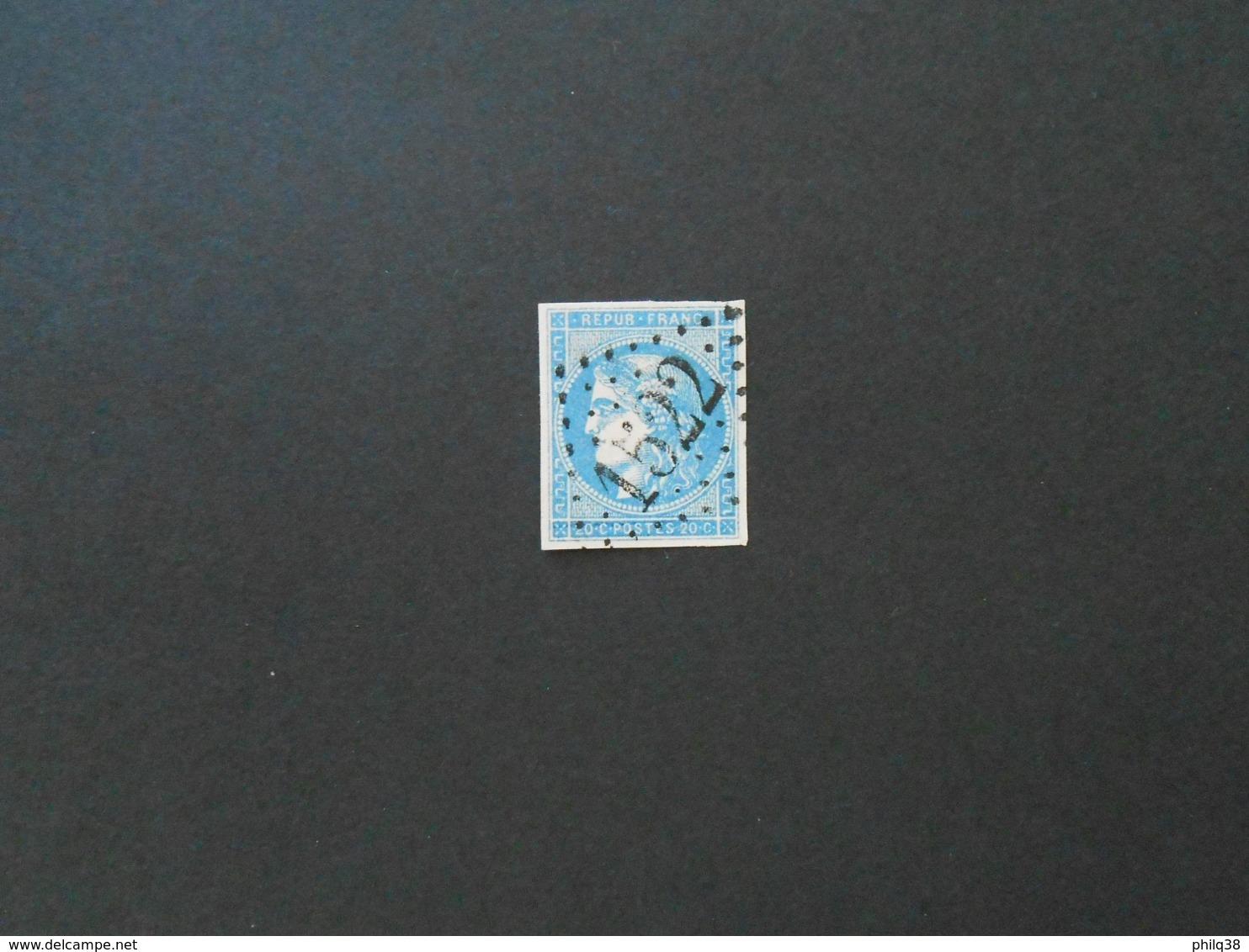 CERES 20 C Type II Report 2 Y&T 45B, état TB - 1870 Emissione Di Bordeaux