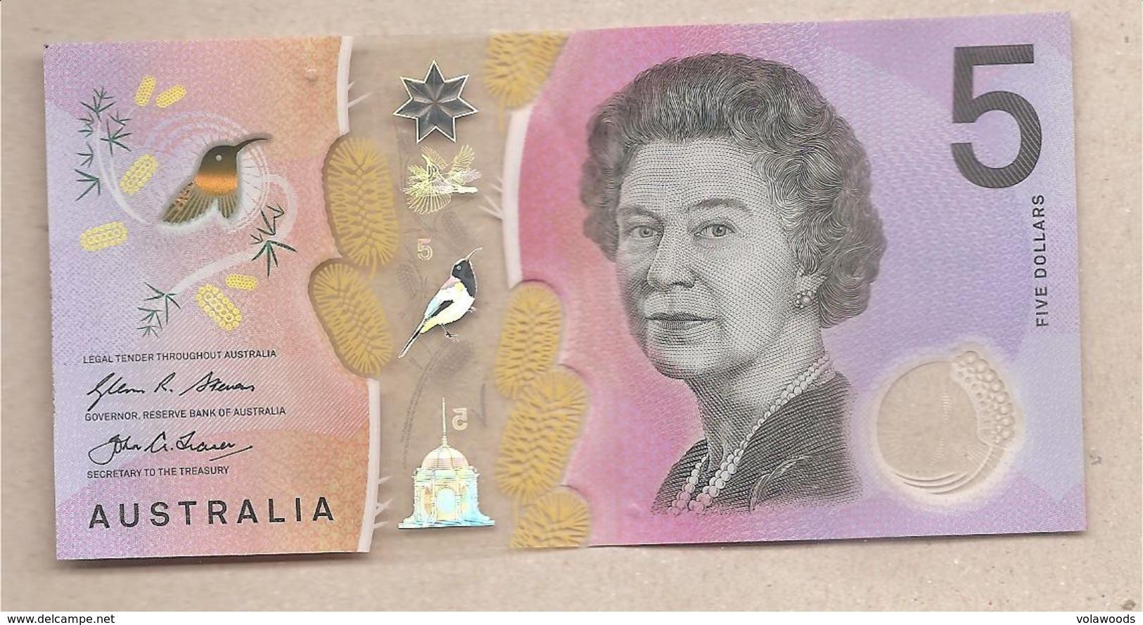 Australia - Banconota Circolata Da 5 Dollari P-62a - 2016 - 2005-... (Polymer)