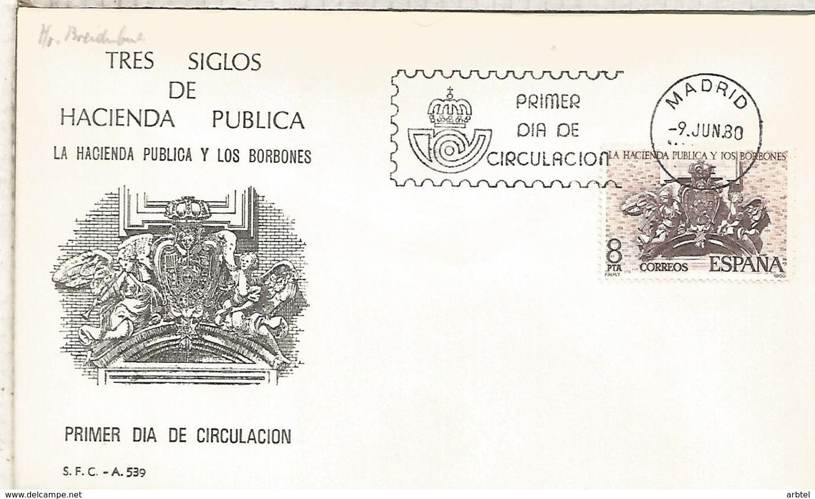 ESPAÑA SPD 1980 HACIENDA PUBLICA Y LOS BORBONES - 1931-Hoy: 2ª República - ... Juan Carlos I