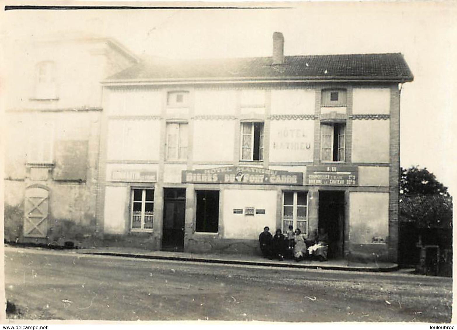 DOMMARTIN LE FRANC HAUTE MARNE L'HOTEL MATHIEU  PHOTO ORIGINALE 8.50 X 6 CM - Places