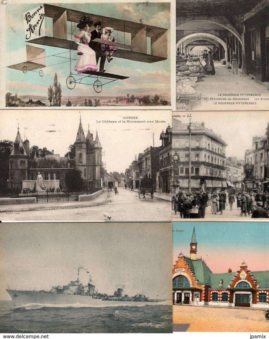 Lot De 200 Cartes Postales Anciennes  (CPA)  De France - Cartes Postales