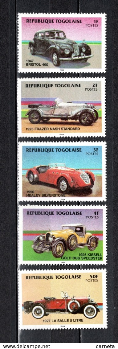 TOGO N° 1153 à 1157  NEUFS SANS CHARNIERE COTE  5.00€  AUTOMOBILE  VOITURE ANCIENNE - Togo (1960-...)