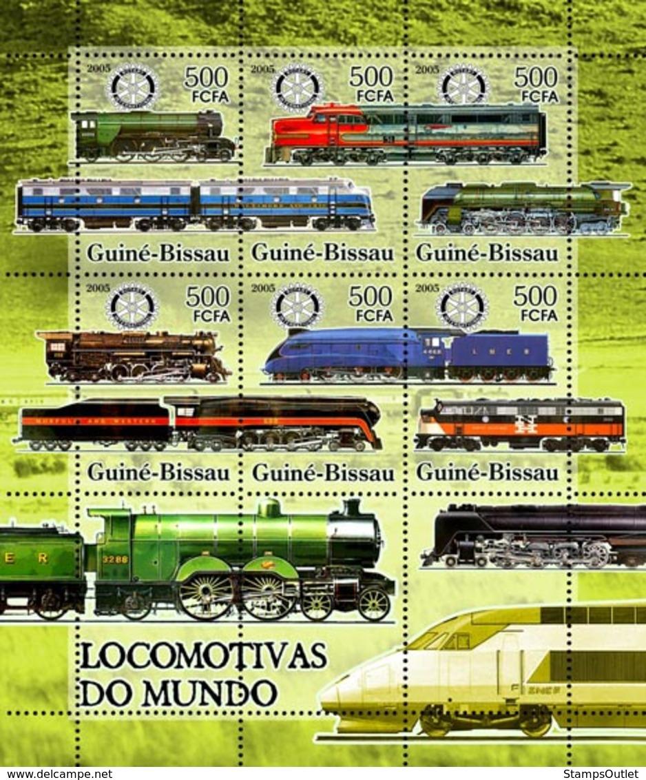 Guinea - Bissau 2005 - Trains & Rotary 6v, Y&T 2129-2133, Michel 3276-3281 - Guinea-Bissau