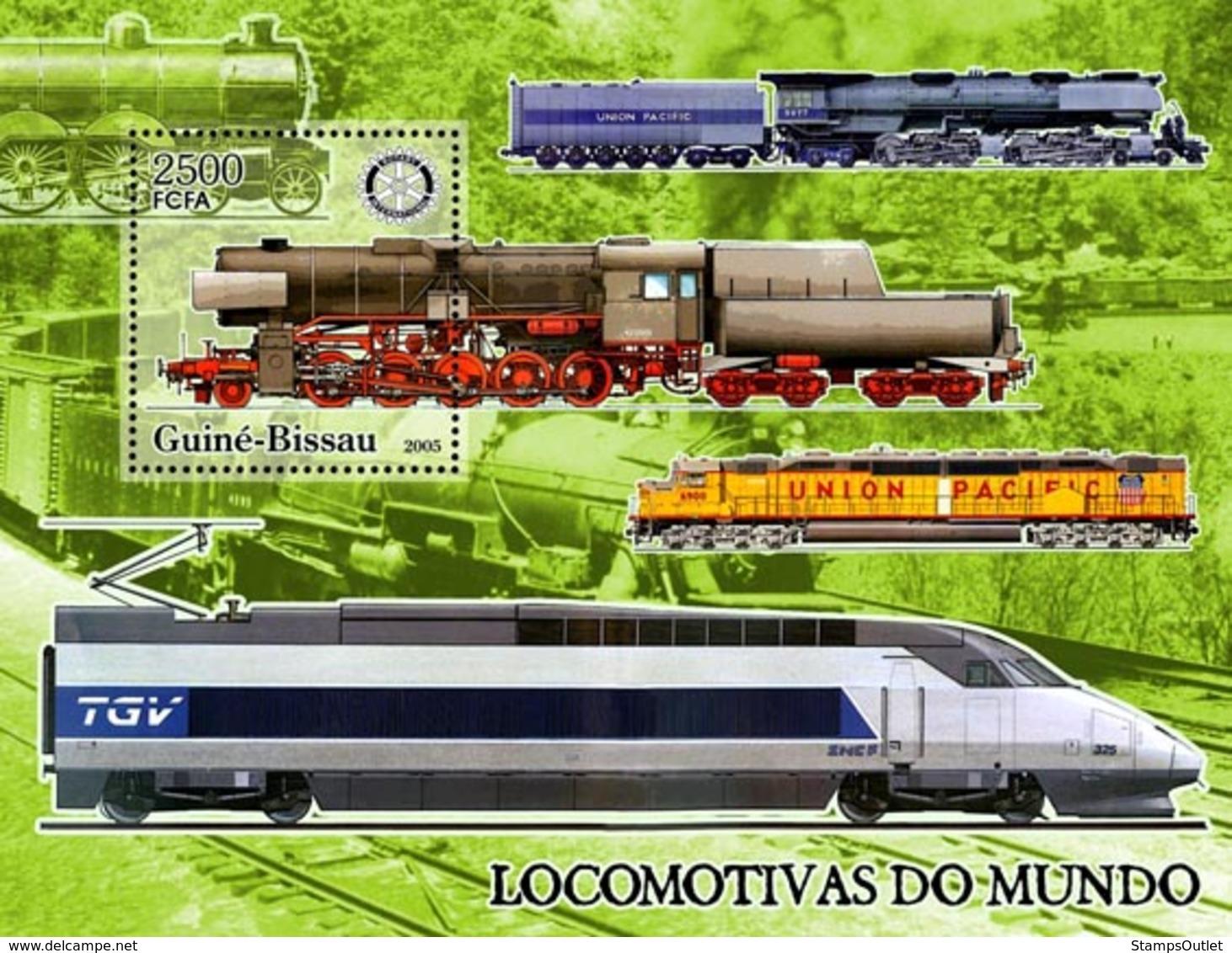 Guinea - Bissau 2005 - Trains & Rotary S/s, Y&T 299, Michel 3282/BL545 - Guinea-Bissau