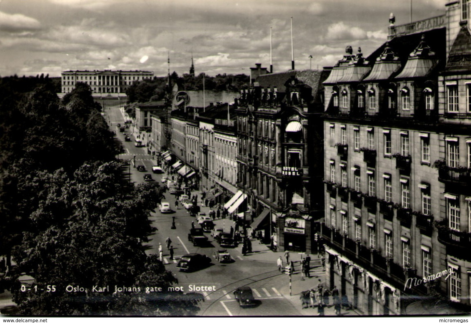 OSLO - Karl Johans Gate Mot Slottet - Norvège