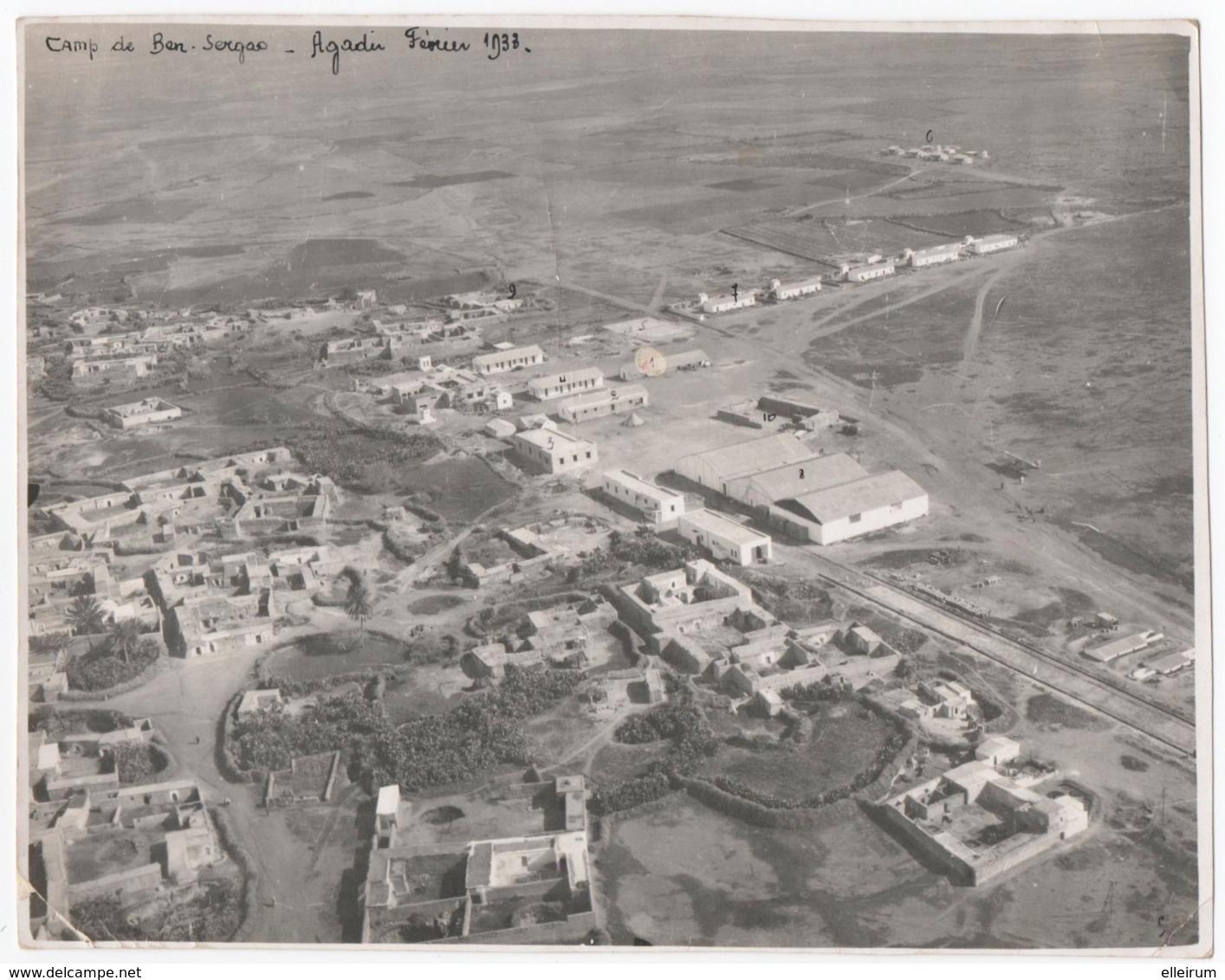 MILITARIA. MAROC. AGADIR. AVIATION . CAMP DE BEN SERGAO. 1933. - Aviation