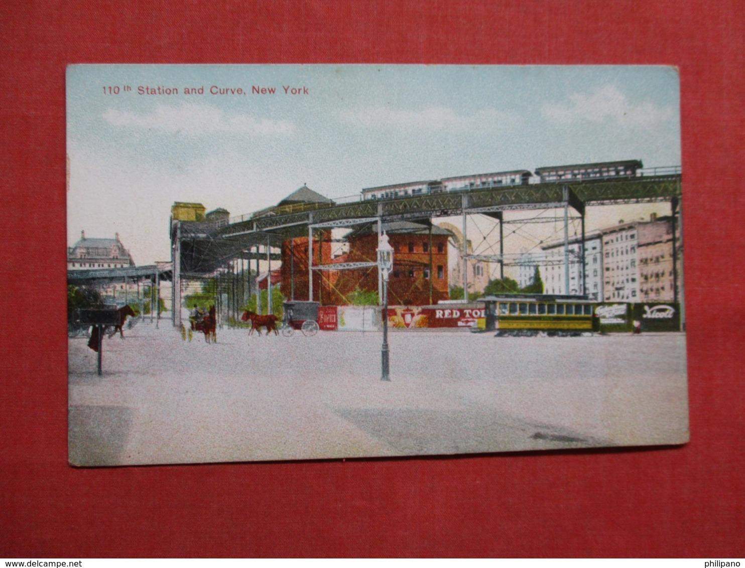 110 Th Station & Curve NY City        Ref 3620 - Prison