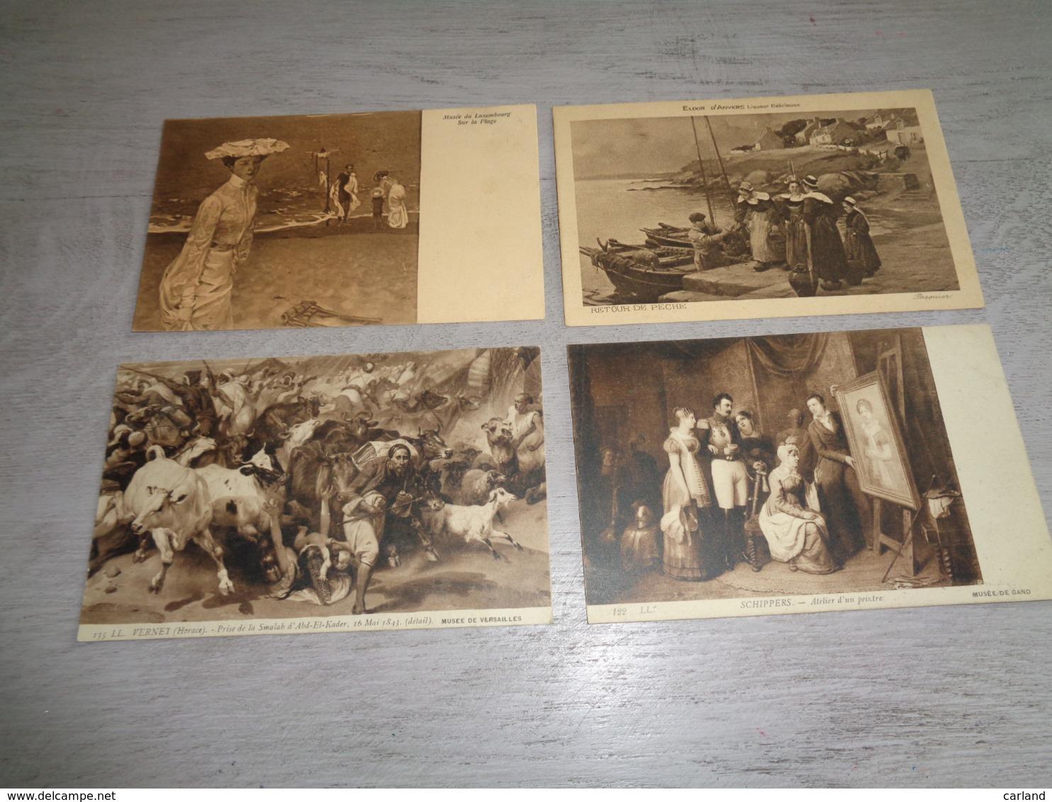 Lot De 60 Cartes Postales De Fantaisie Peintures  Peinture    Lot Van 60 Postkaarten Fantasie  Schilderijen  Schilderij - Cartes Postales