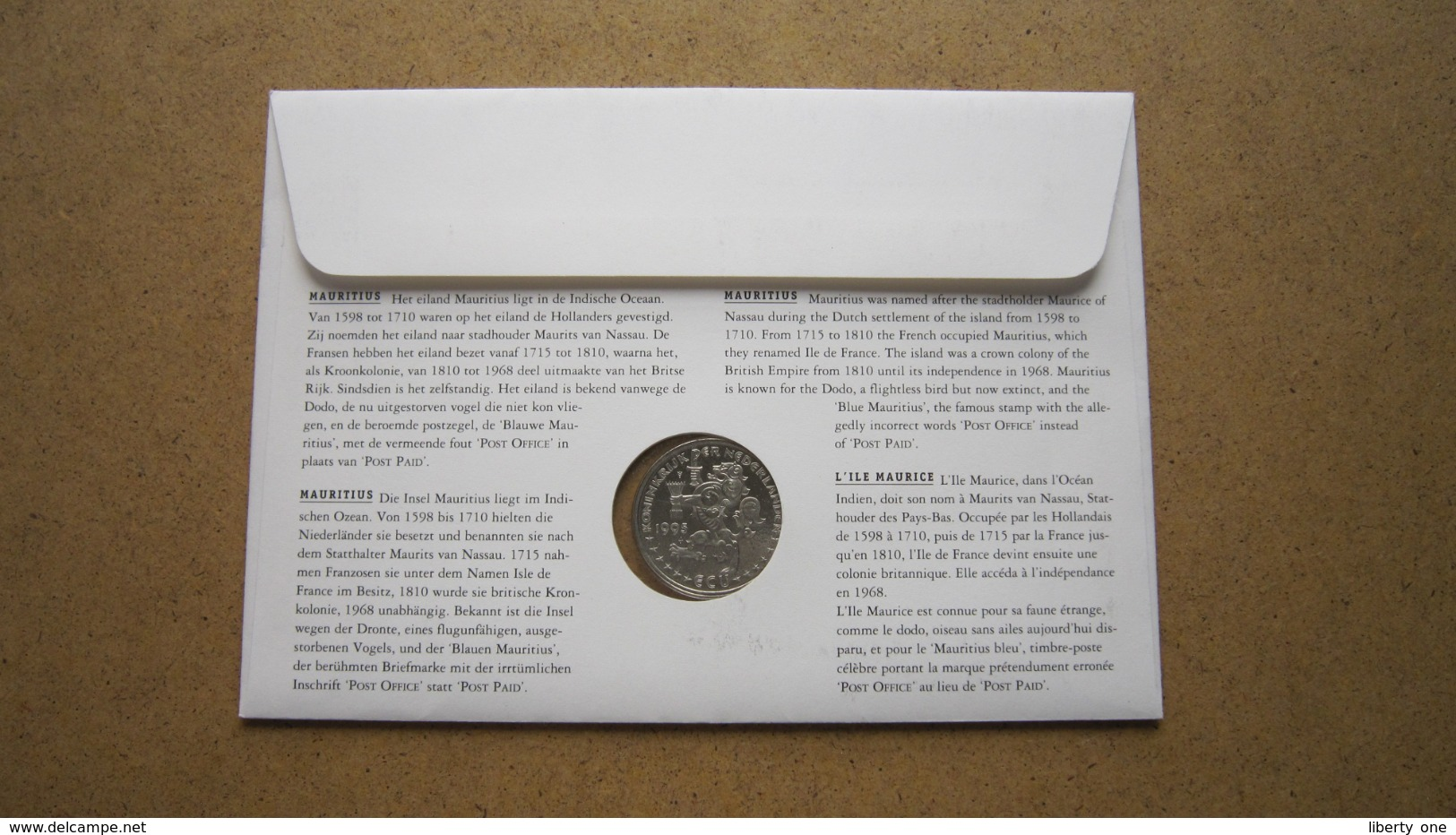 ECU Brief / Letter / Lettre ( N° 3 ) MAURITIUS ( Details > Zie Foto's ) ! - Non Classés