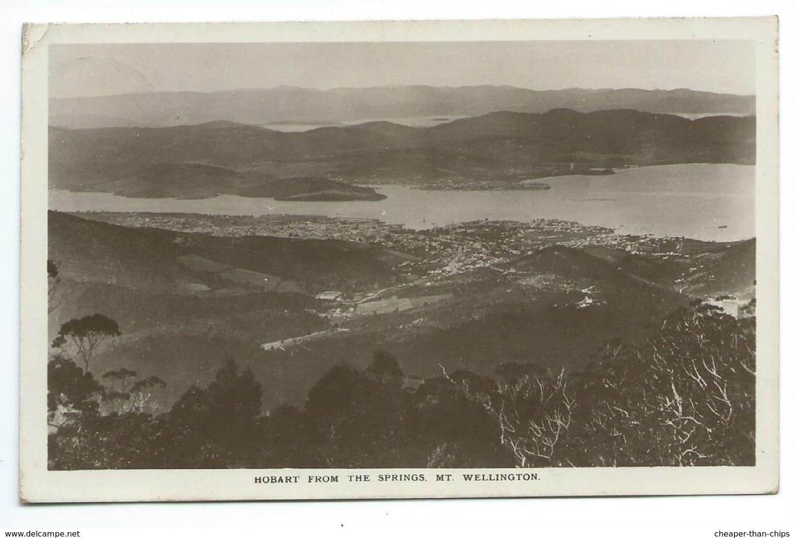 Hobart From The Springs. Mt. Wellington - Hobart