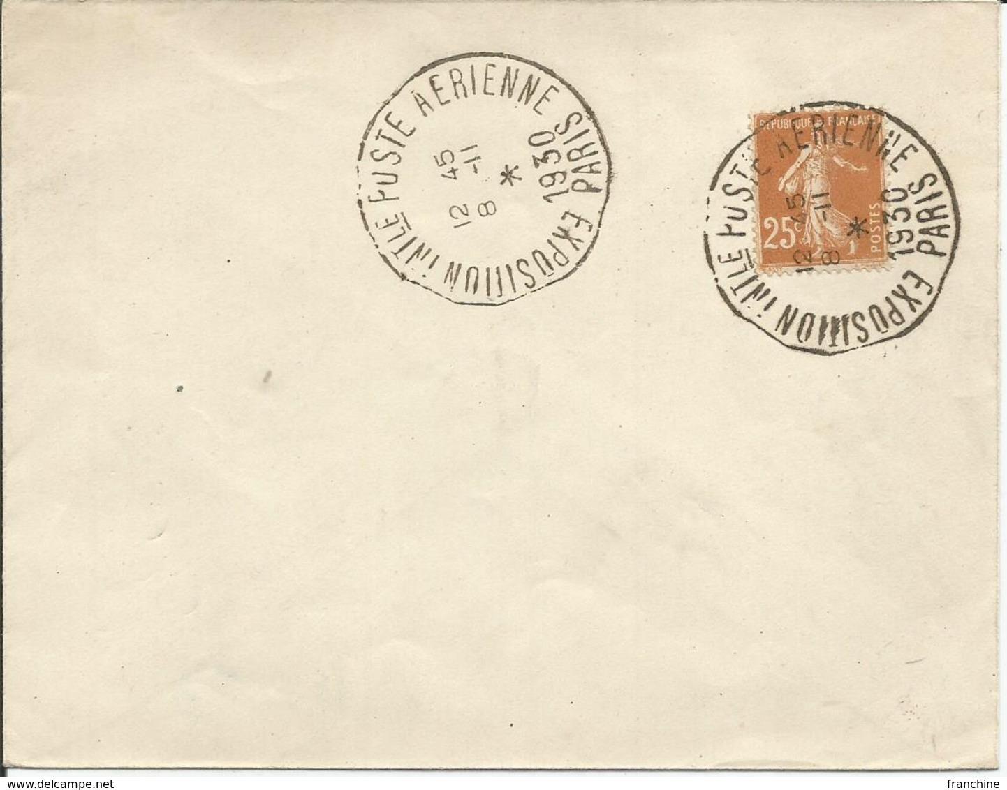 1927-31 - N° 235 Oblitéré (o) Sur Enveloppe - Expo Intern. Poste Aérienne  PARIS 1930 - France