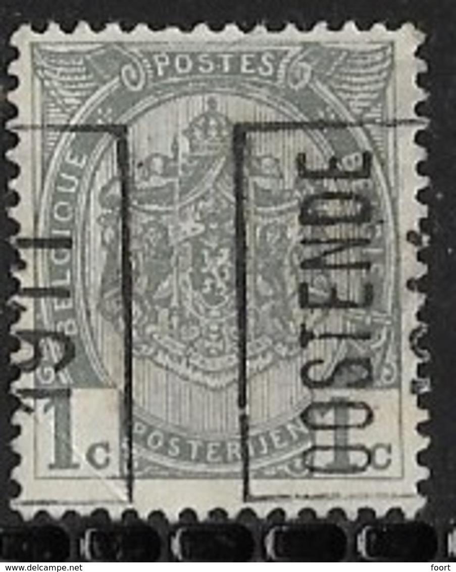 Oostende 1911  Nr. 1645Azz - Precancels