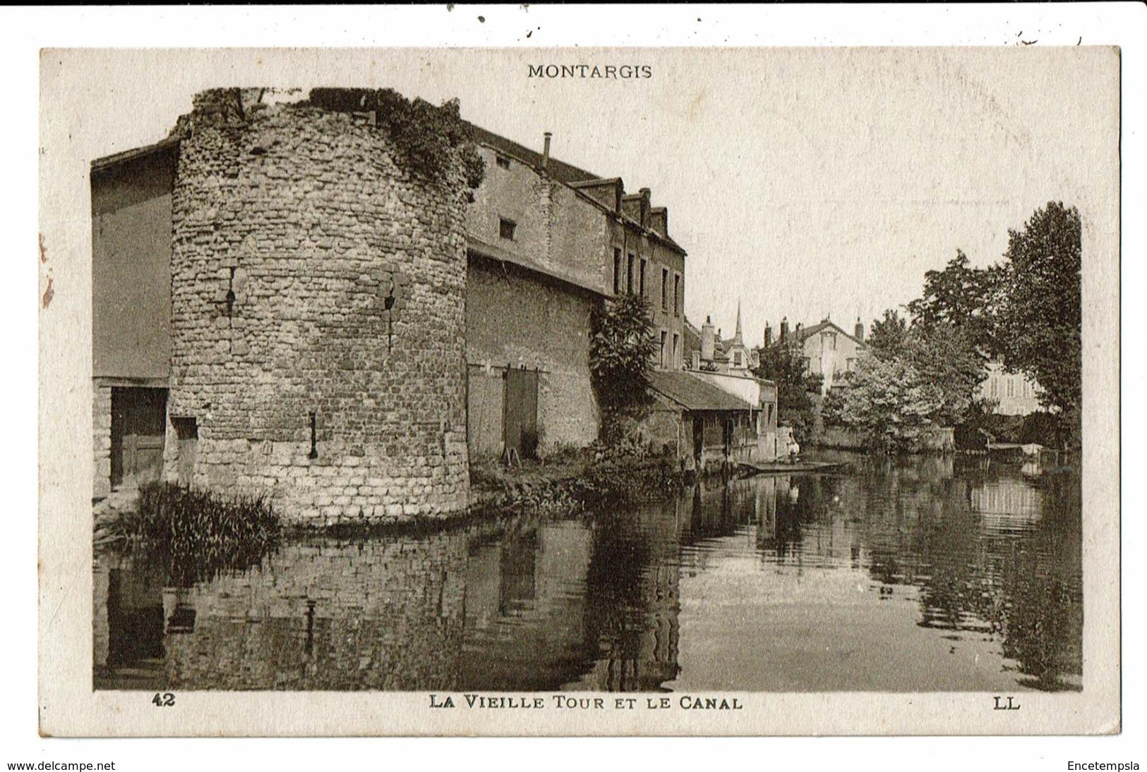 CPA-Carte Postale-FRANCE -Montargis - La Vieille Tour Et Le Canal En 1921 VM6557 - Montargis