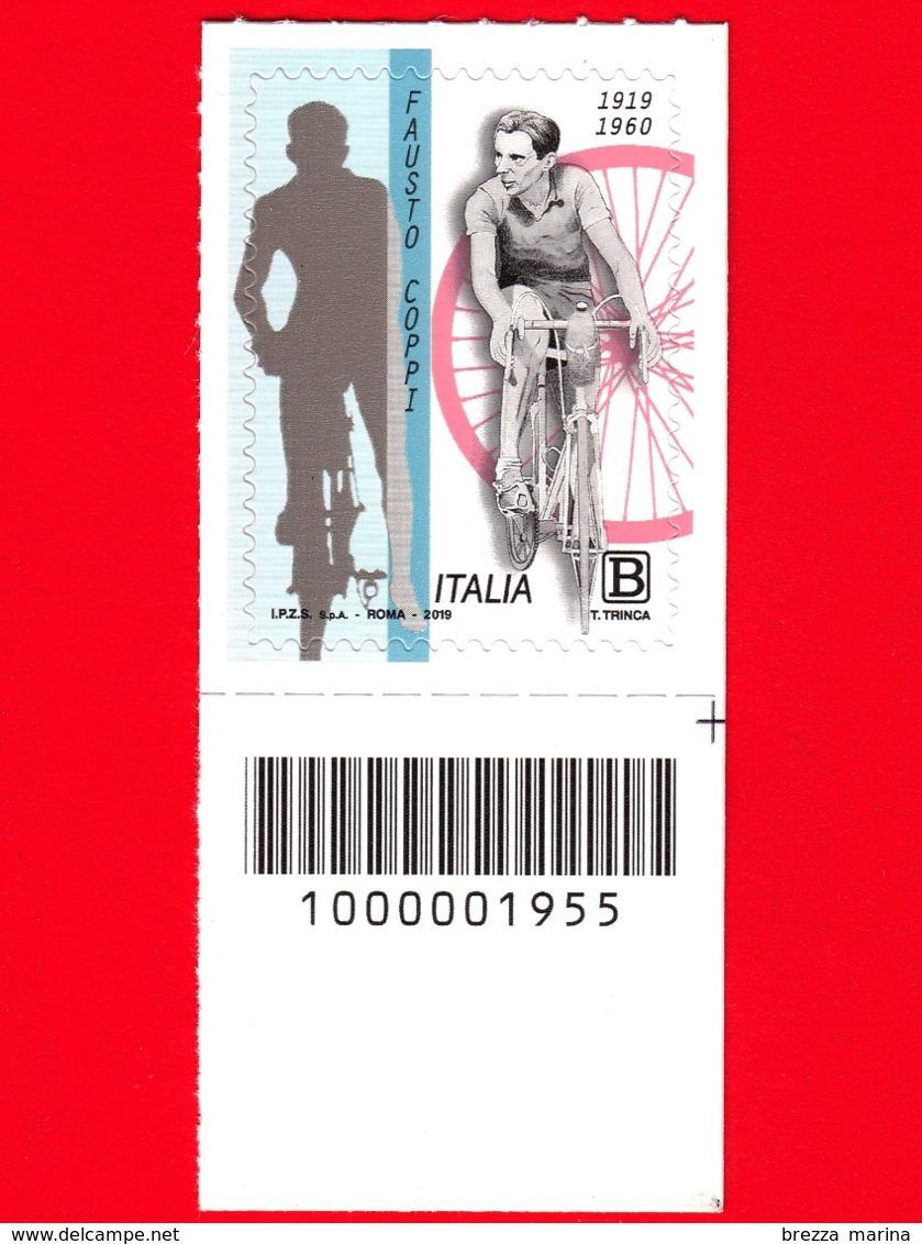 Nuovo - MNH - ITALIA - 2019 - 100 Anni Della Nascita Di Fausto Coppi – Ciclismo – B - Barre 1955 - 6. 1946-.. Republic