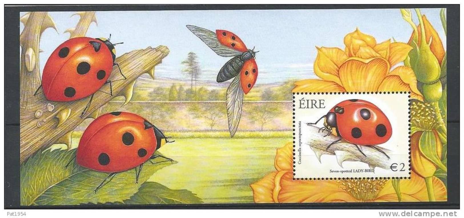 Irlande 2003 Bloc  N°49 Neuf Avec Animal Coccinelles - Blocs-feuillets