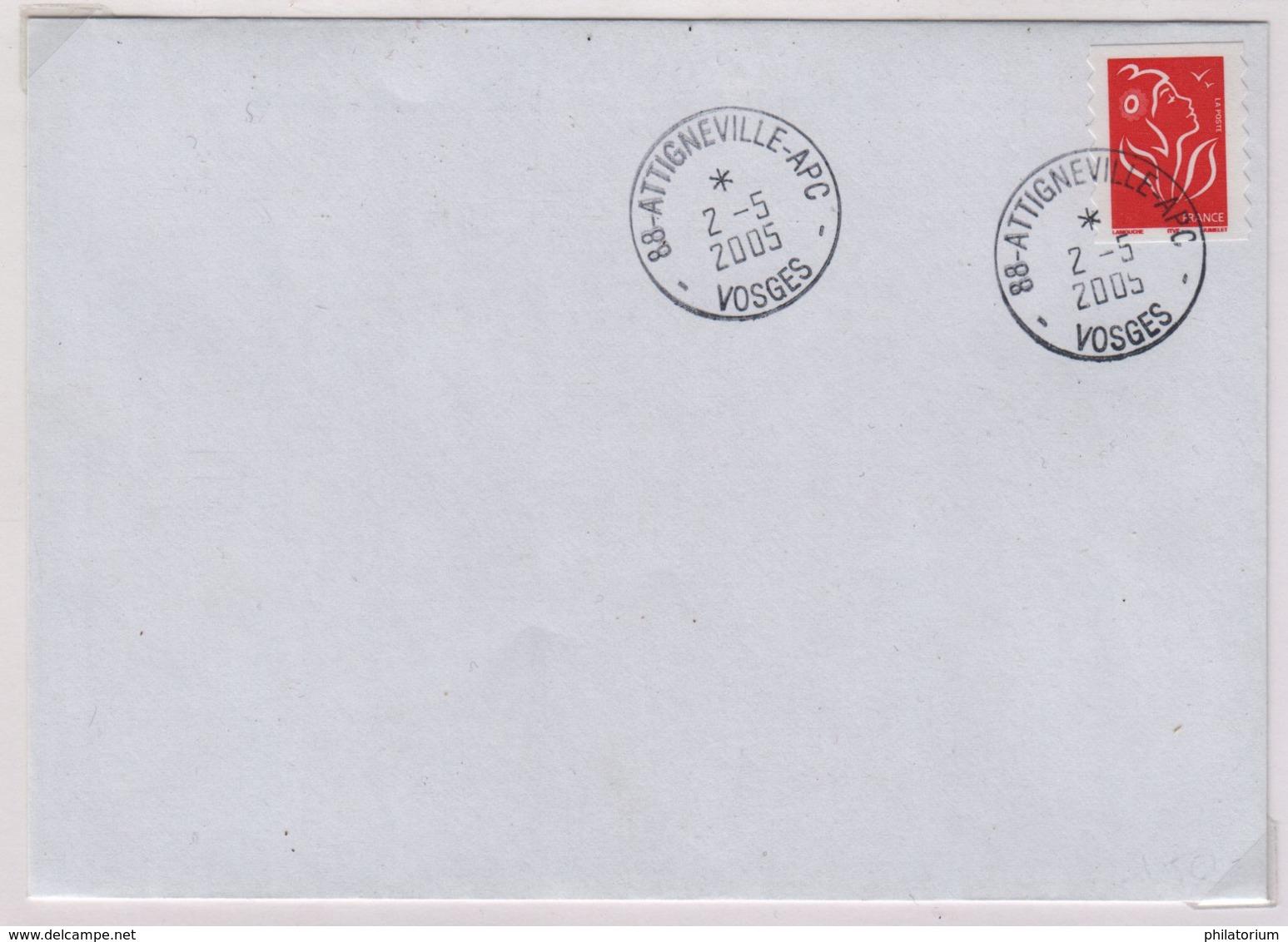 ATTIGNEVILLE - APC  (Vosges) 2 Mai 2005  APC = Agence Postale Communale - 1961-....