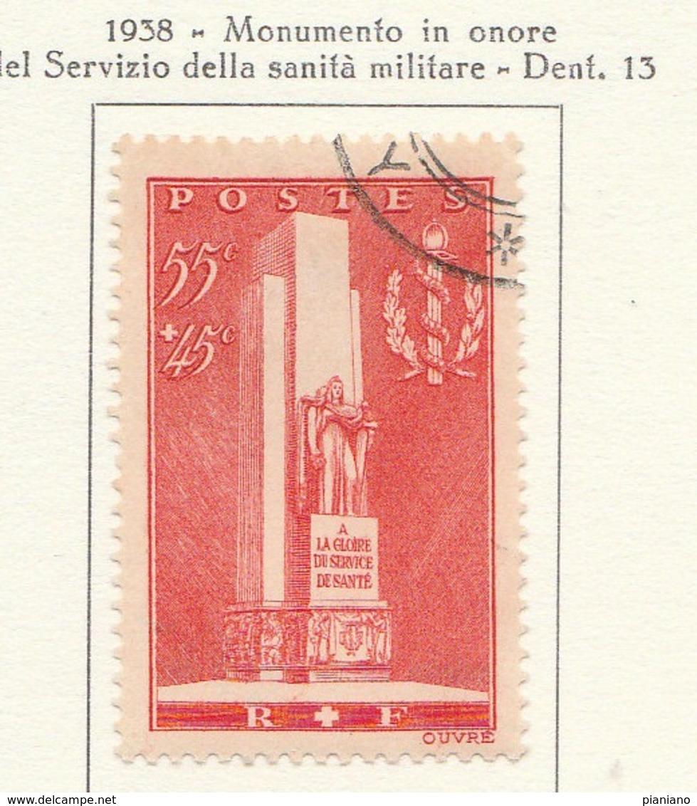 PIA - FRA - 1938 : Monumento In Onore Della Sanità Militare  - (Yv 395) - Primo Soccorso