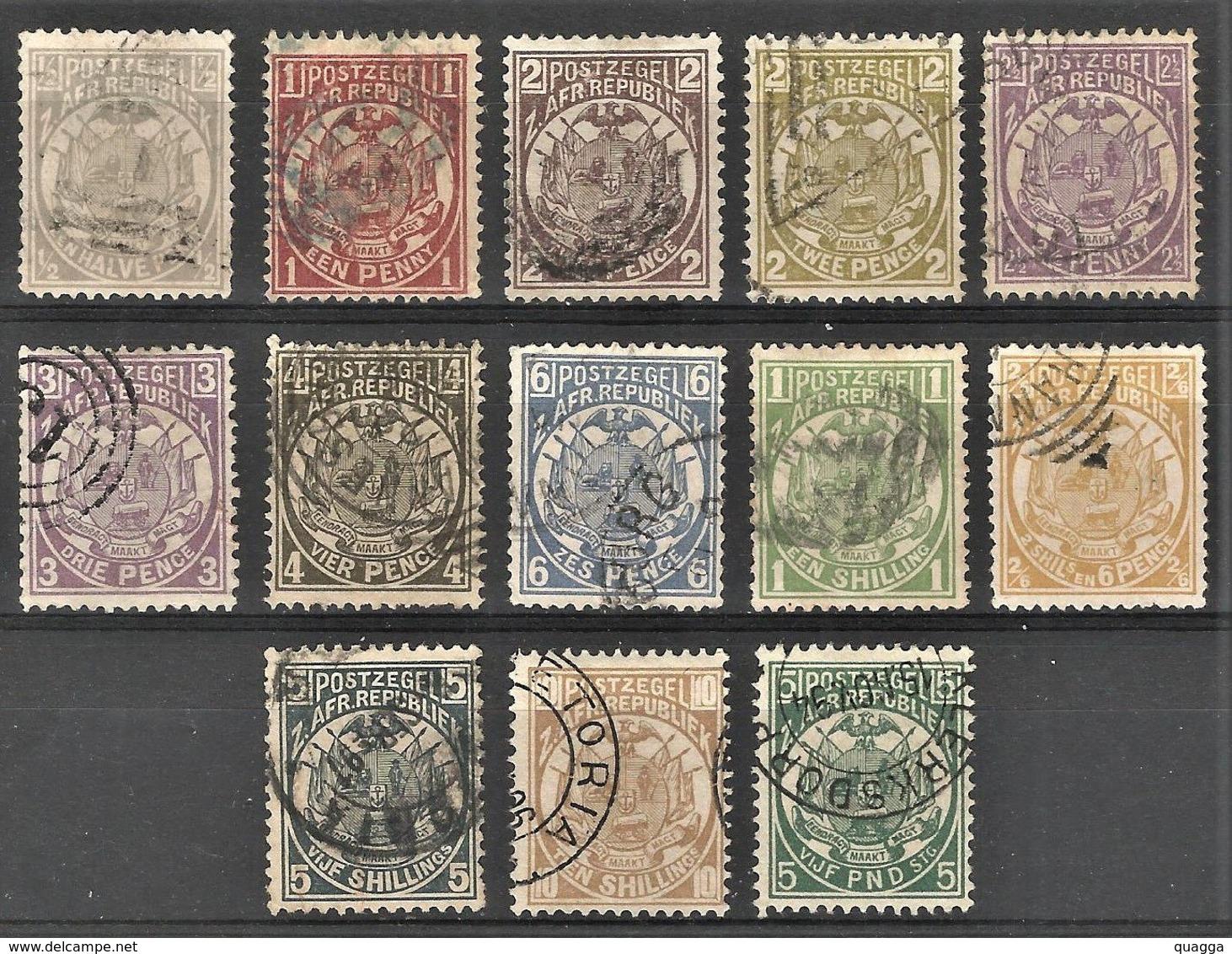 Transvaal 1885. ½d - 5 Pounds Set. SACC 178-190, SG 175-187. - Südafrika (...-1961)