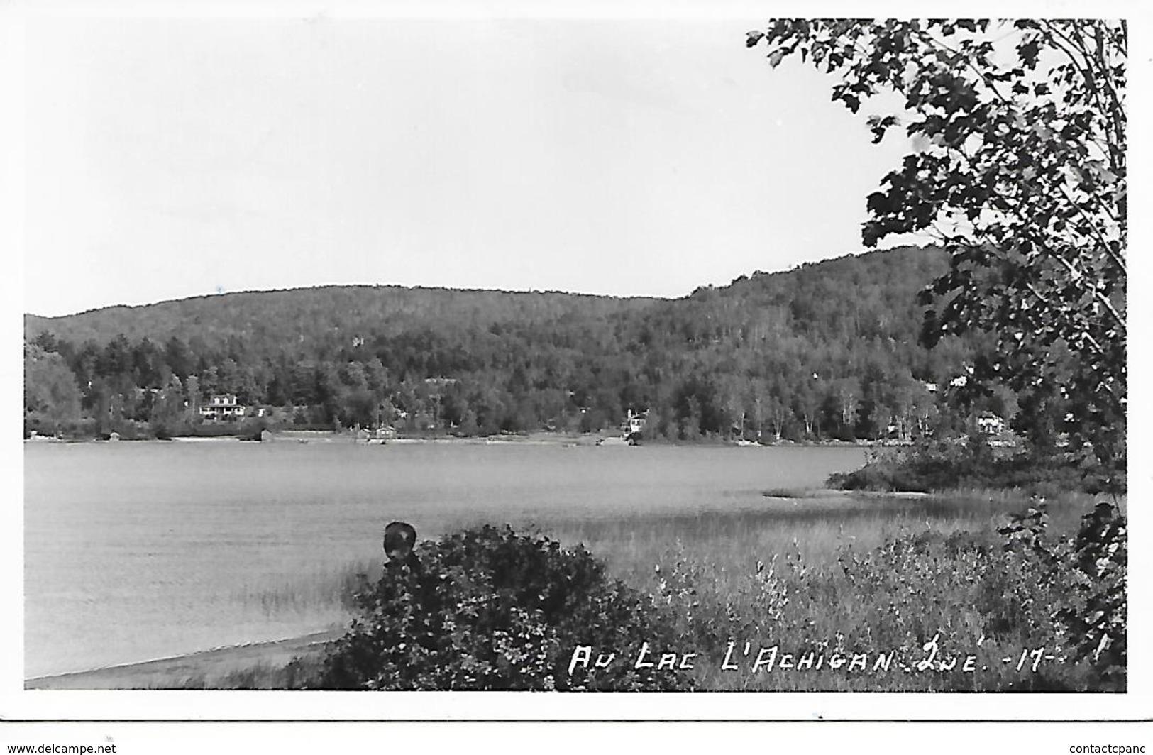 SAINT HIPPOLYTE ( Canada ) - Lac L'Achigan   ( C.P.S.M. , Pt - Ft ) - Quebec