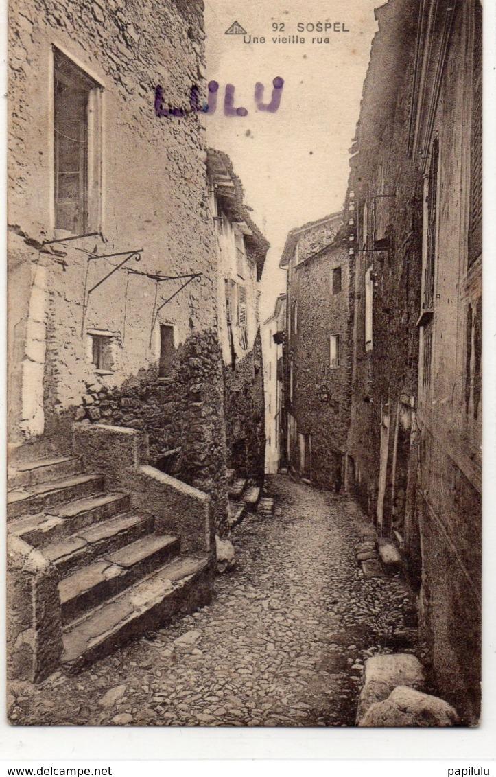 DEPT 06 : édit. Cap N° 92 : Sospel Une Vielle Rue - Sospel