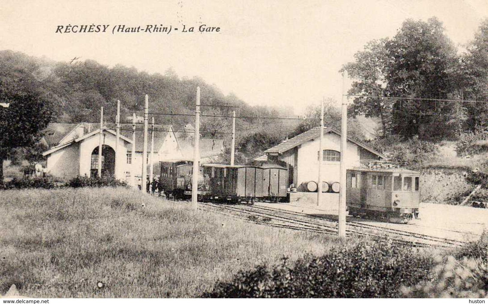 RECHESY  - La Gare, Animée - Frankreich