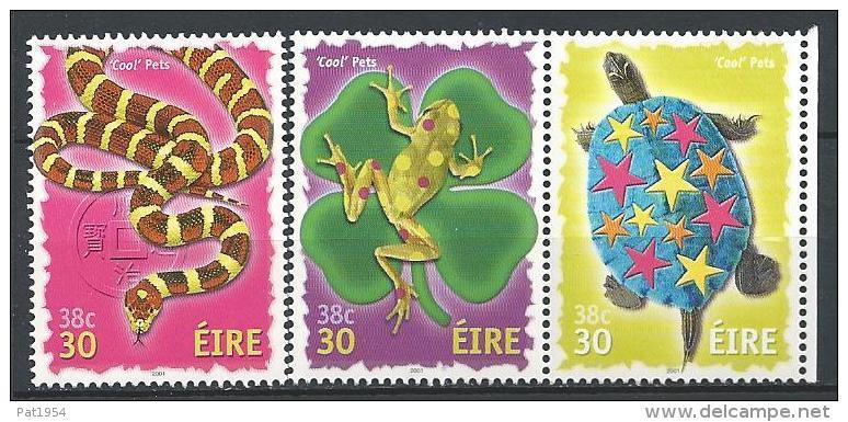 Irlande 2001 N°1318/1320 Neufs ** Timbres De Voeux, Serpent, Grenouille Et Tortue - Neufs
