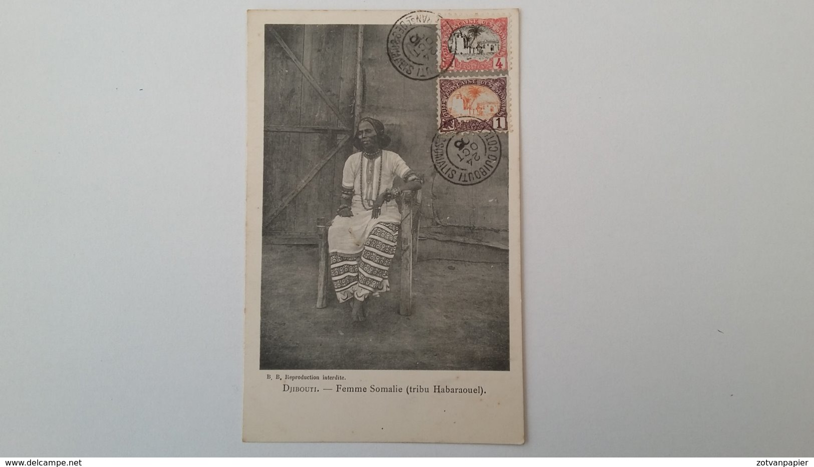 DJIBOUTI - FEMME SOMALIE (TRIBU HABARAOUEL) 1905 - Djibouti