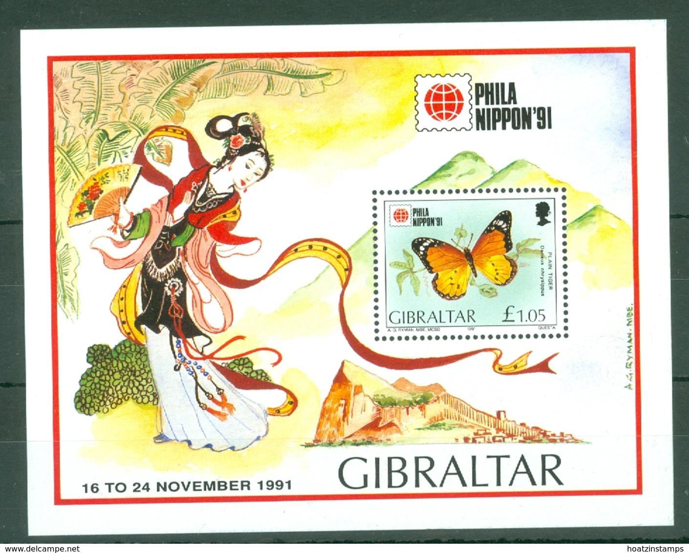 Gibraltar: 1991   Phila Nippon 91 International Stamp Exhibition   M/S    MNH - Gibilterra