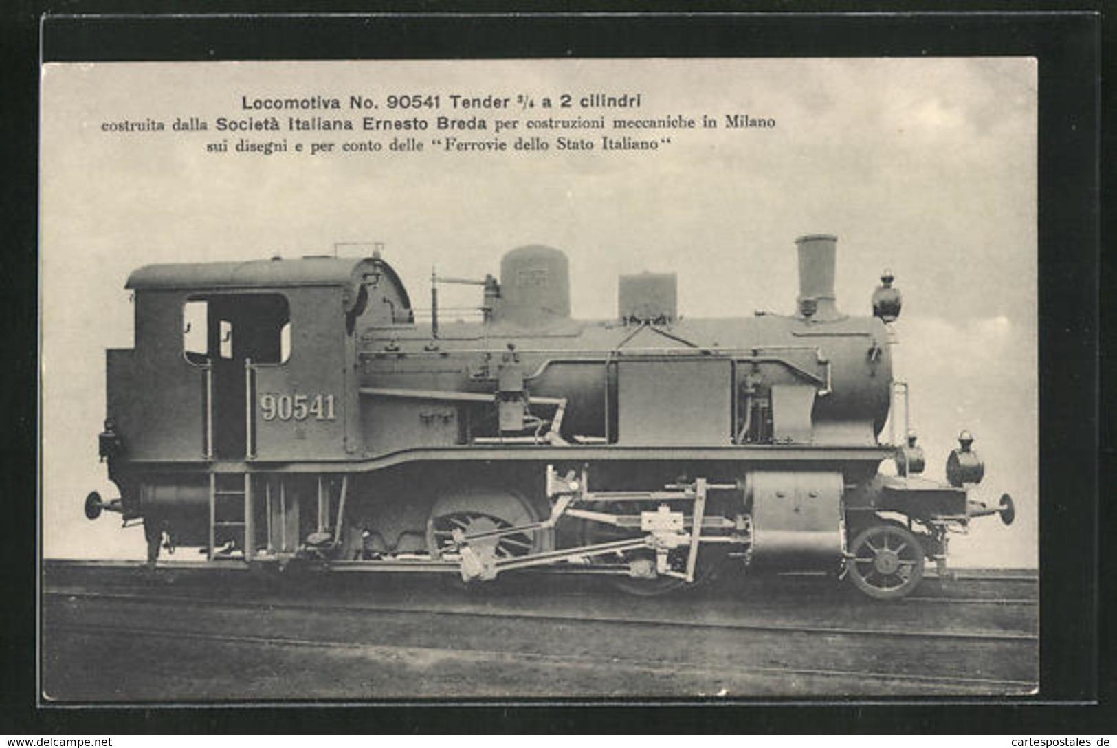 AK Eisenbahn-Lokomotive No. 90541 Für Die Italienische Staatseisenbahn - Treni