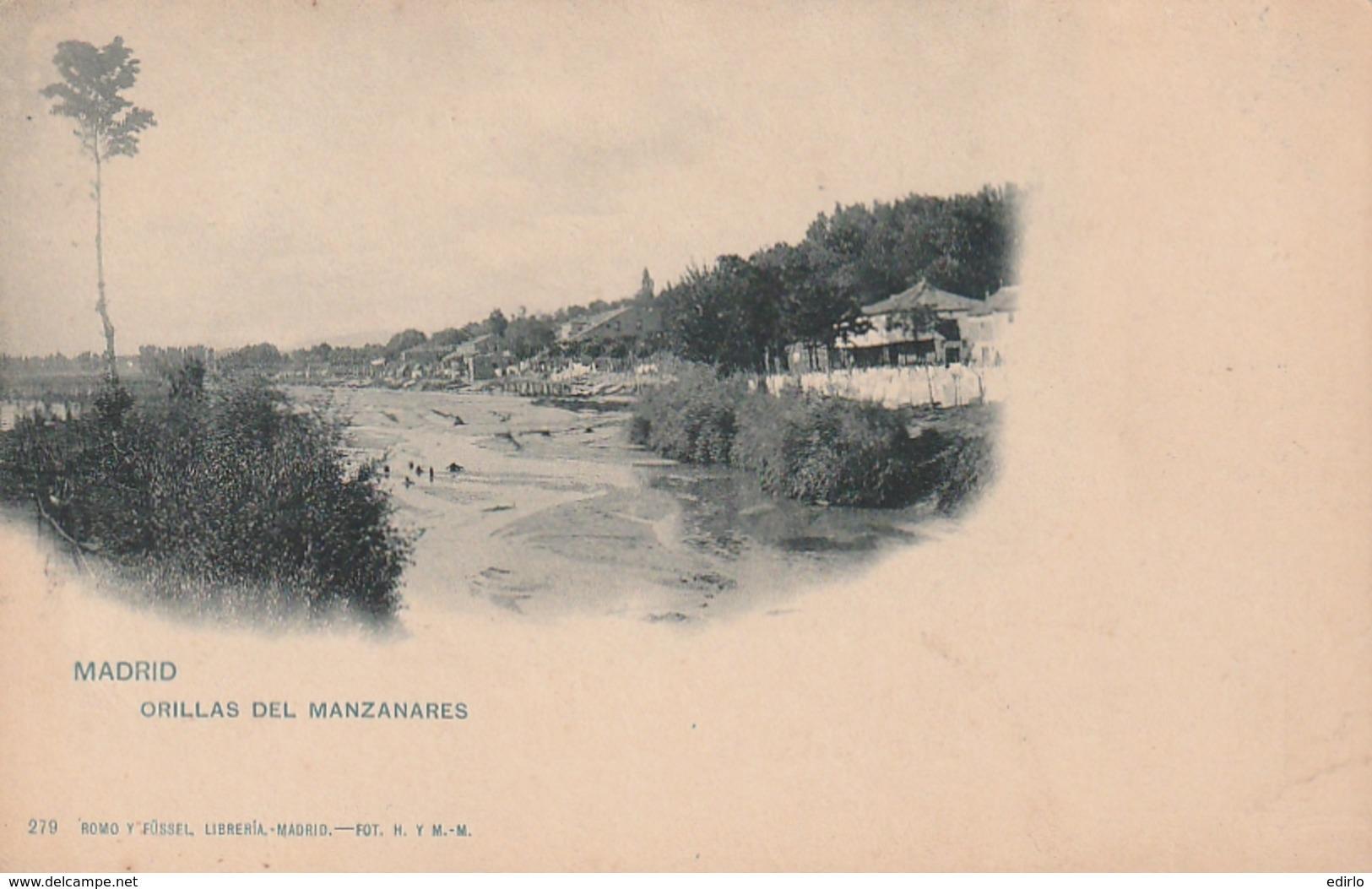 *** MADRID ***  MADRID Orillas Del Manzanares - 2 Bouts De Papier Collé Dos - Dos Simple - Madrid