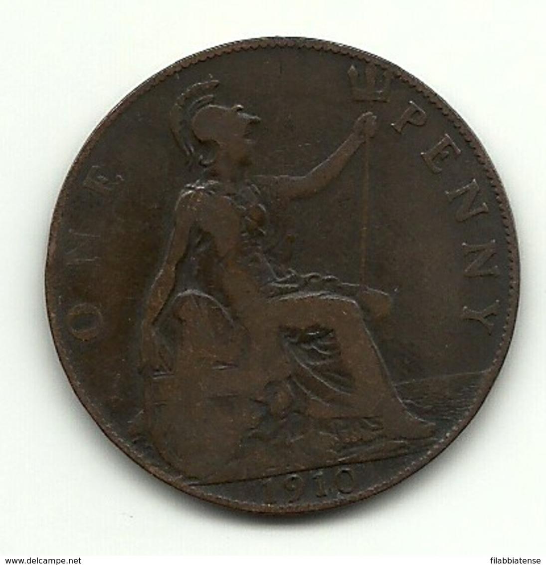 1910 - Gran Bretagna 1 Penny - 1902-1971 : Monete Post-Vittoriane