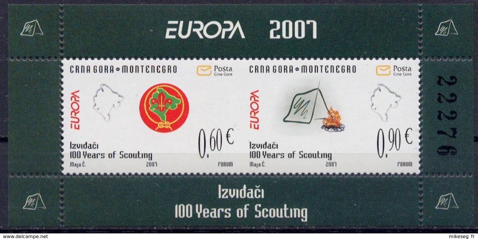 Europa 2007 - CRNA GORA Montenegro (scoutisme) Carnet Booklet Heftchen ** - Europa-CEPT