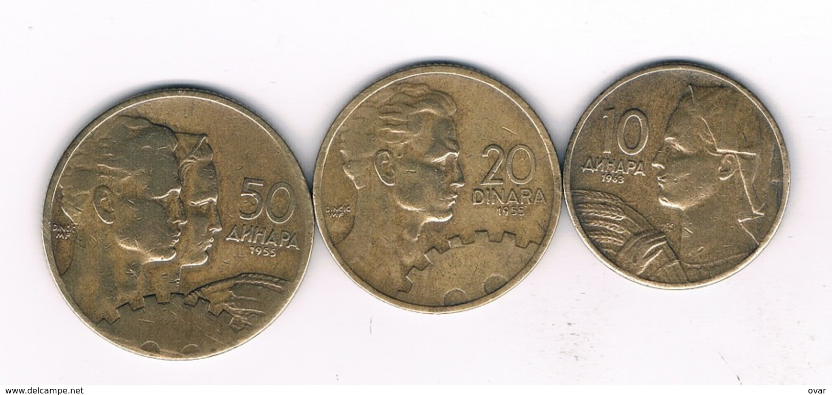 10+20+50 DINAR 1955 JOEGOSLAVIE /6727/ - Yougoslavie