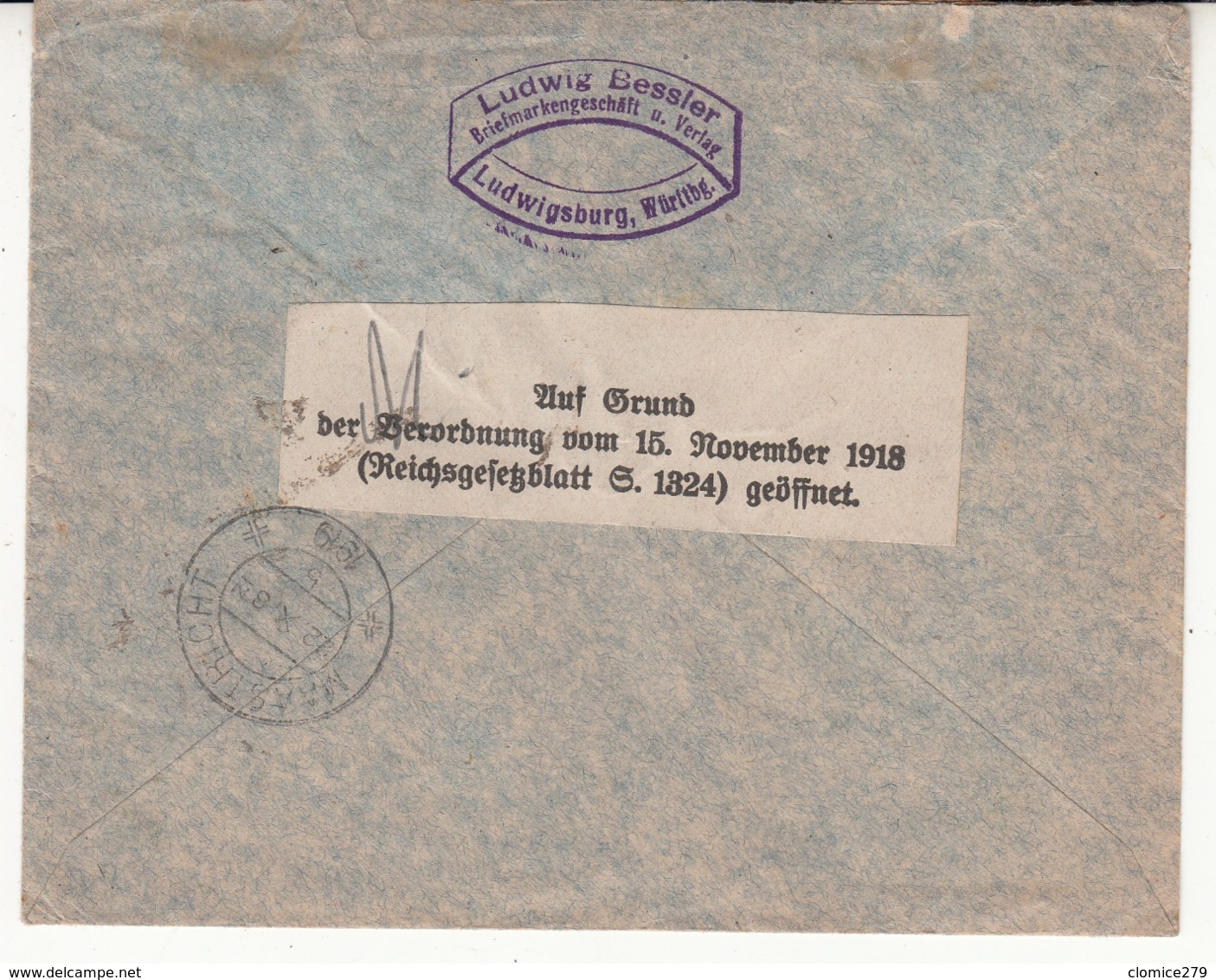 Guerre 1914/1918   Enveloppe   D'Allemagne  Vers Les Pays Bas    Voir T  2 Em  Scan - Occupazione 1914 – 18