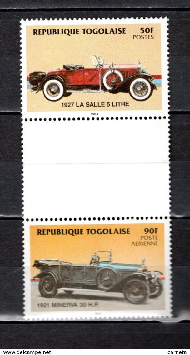 TOGO N° 1157 + PA 524 SE TENANT  NEUF SANS CHARNIERE COTE  ? € AUTOMOBILE VOITURE ANCIENNE RARE VOIR DESCRIPTION - Togo (1960-...)