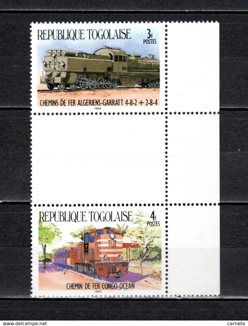 TOGO N° 1160 + 1161 SE TENANT  NEUFS SANS CHARNIERE COTE  ? € TRAIN RARE  VOIR DESCRIPTION - Togo (1960-...)