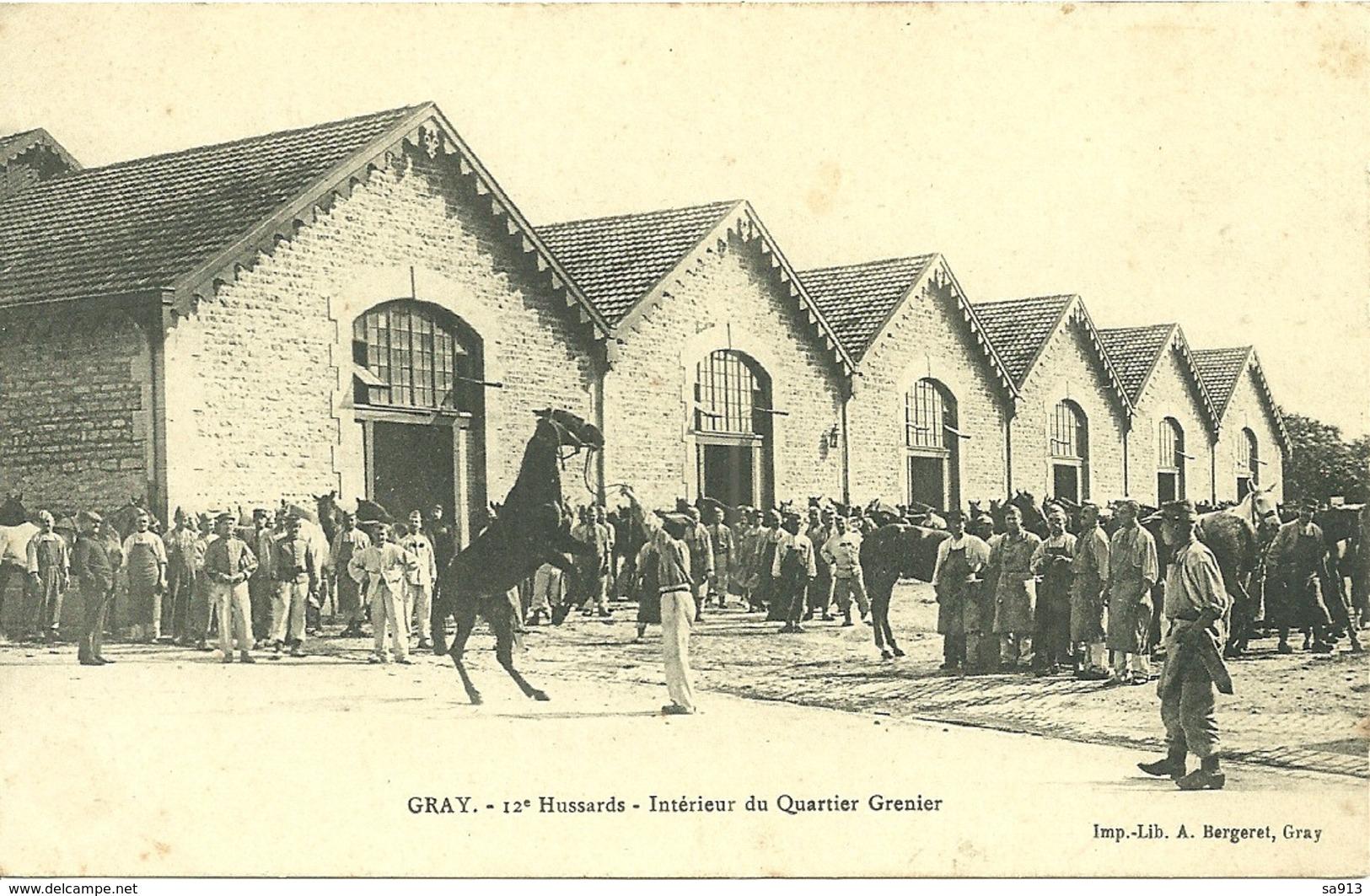 GRAY (70) - 12° Hussards - Intérieur Du Quartier Grenier - Gray
