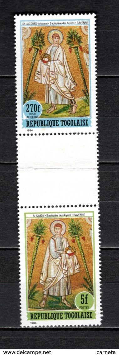 TOGO N° 1168 + PA 541 SE TENANT  NEUFS SANS CHARNIERE COTE  ? € LES DOUZE APOTRES  RARE  VOIR DESCRIPTION - Togo (1960-...)