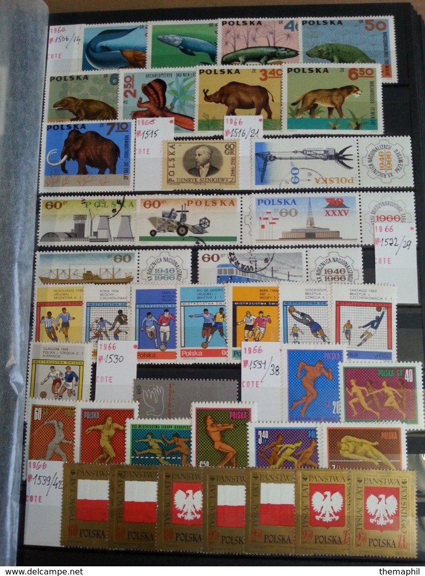 Lot N° T 736 POLOGNE Tres Bon Lot De Timbres Neufs** La Plupart - Collections (with Albums)